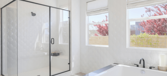 Shower glass by Palmdale Glass